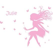 Stickers personnalisés fée bucolique