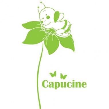 Stickers personnalisés fleur et abeille