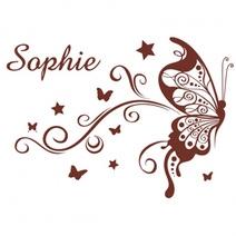Stickers personnalisés papillon