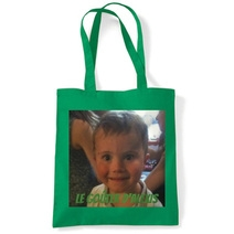 Tote bag imprimé photo vert