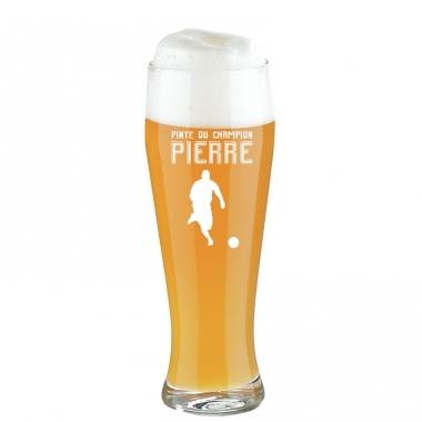 "Pinte de bière sportif gravée ""La pinte du..."""