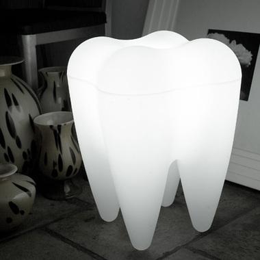 Lampe siège design dent