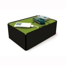Boîte cache chargeurs design noire et verte