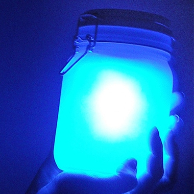Lampe LED design Jar bleue