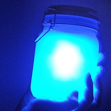 Lampe LED design Jar bleue