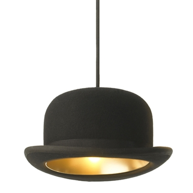 Abat-jour design chapeau melon