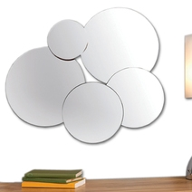 Miroir design cercles