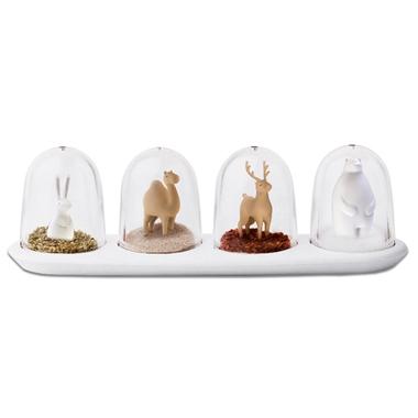 Boîtes à épices design animaux