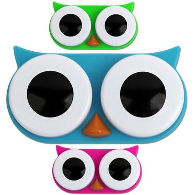 Boite à lentilles design hibou