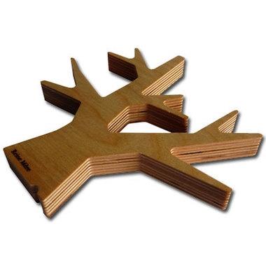 un beau dessous de plat en bois au design d 39 arbre. Black Bedroom Furniture Sets. Home Design Ideas