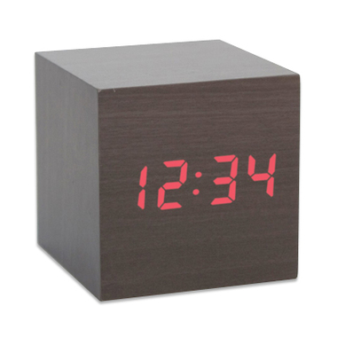 Mini Réveil cube en bois