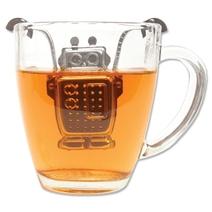 Boule à thé design robot