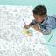 Coloriage géant carte du monde
