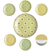 6 assiettes à dessert design Eclektic