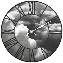 Horloge design nuages 3D