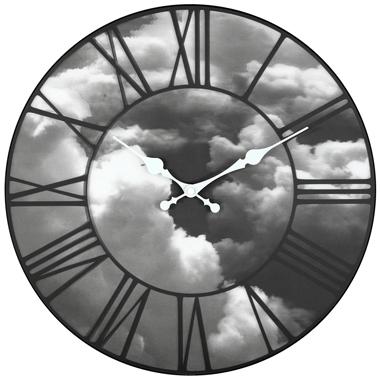 Horloge design nuages 3D