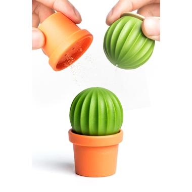Salière et poivrière cactus