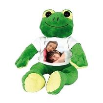 Peluche photo personnalisée grenouille
