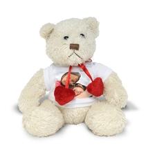 Peluche photo personnalisée ours blanc