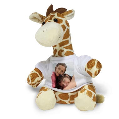 Peluche photo personnalisée girafe