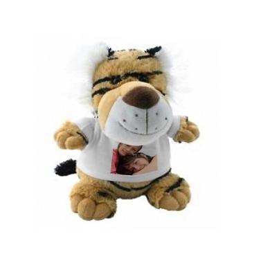 Peluche photo personnalisée tigre