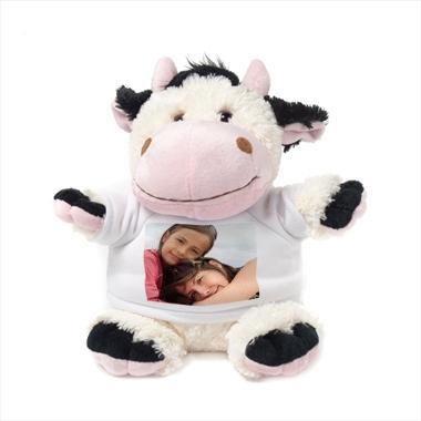 Peluche photo personnalisée vache