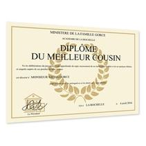 Diplôme de lauréat personnalisé beige