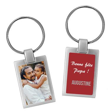 Porte-clés photo fêtes des pères