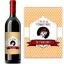 Bouteille de vin avec étiquette vintage