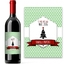 Etiquette de vin personnalisée vintage Noël