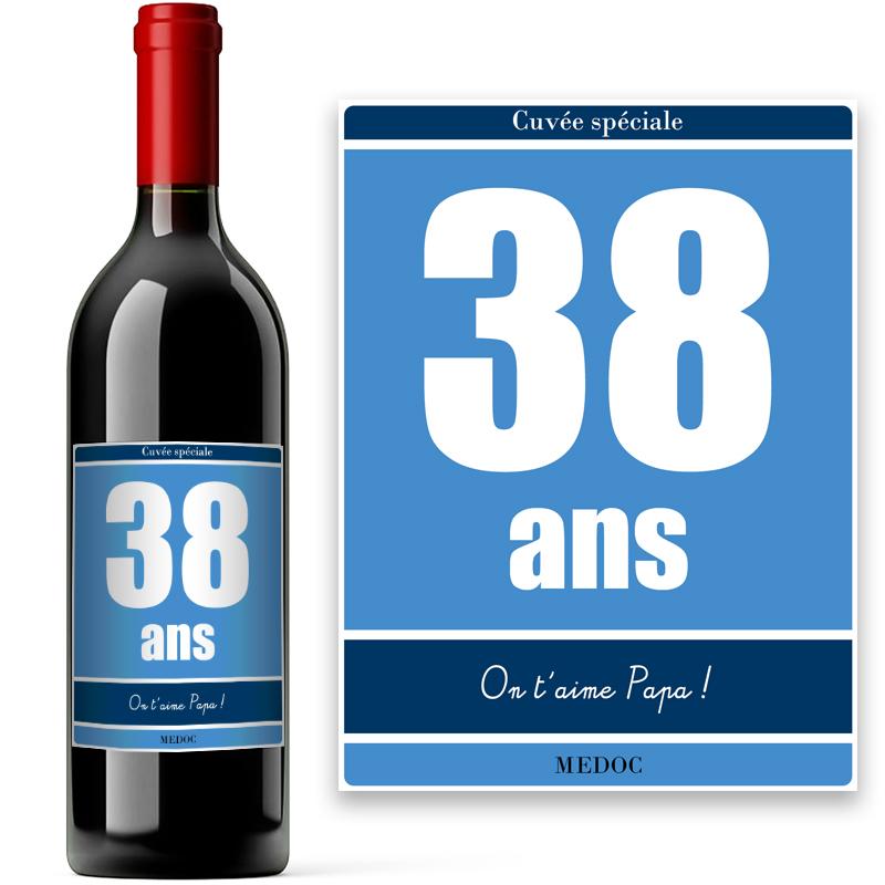 bouteille personnalisée pour anniversaire