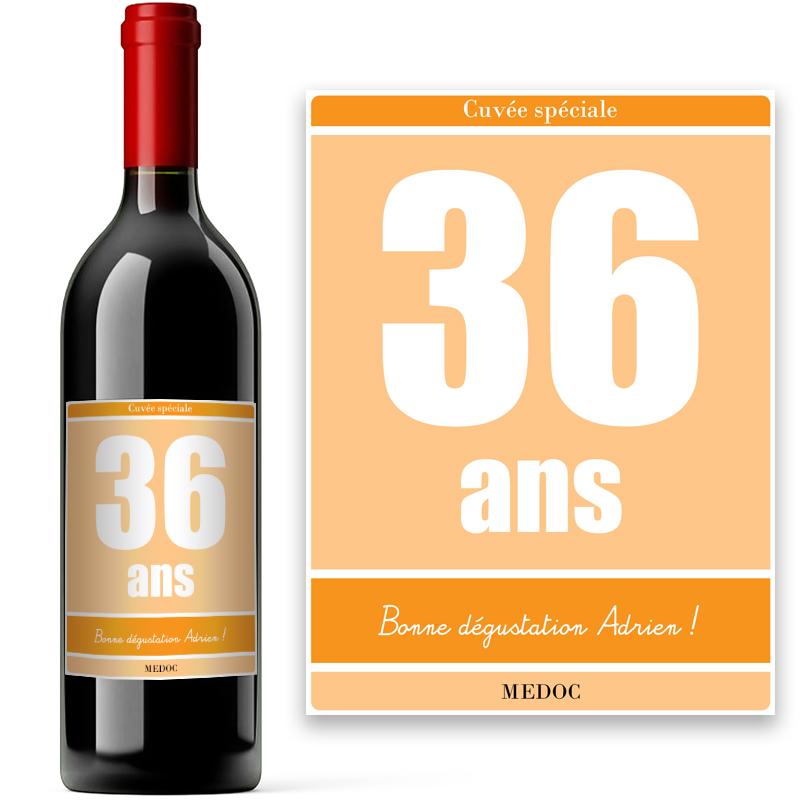 Bouteille de vin de bordeaux avec tiquette personnalis e anniversaire for Bouteille de vin personnalisee montreal