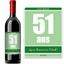 Bouteille de vin avec étiquette anniversaire vert