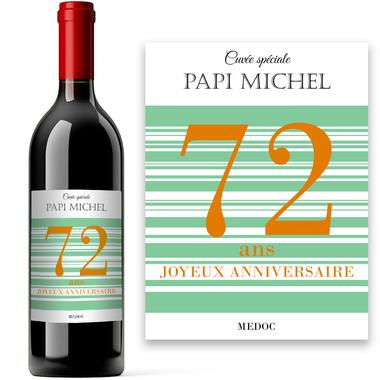 Bouteille de vin Âge personnalisée