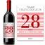 Bouteille de vin age anniversaire rose