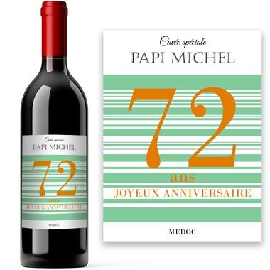 Etiquette de vin âge anniversaire personnalisée