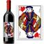 Bouteille de vin avec étiquette valet de coeur