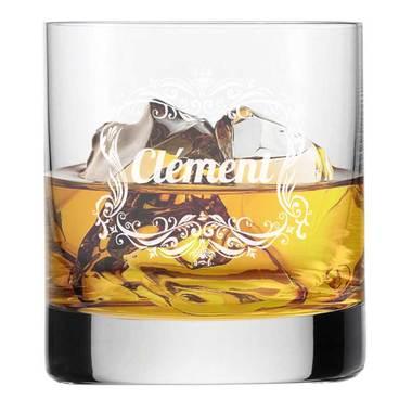 Verre à Whisky cadre rococo