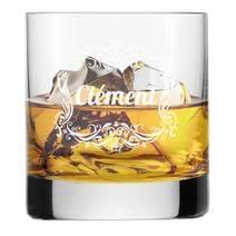 Verre à whisky gravé rococo