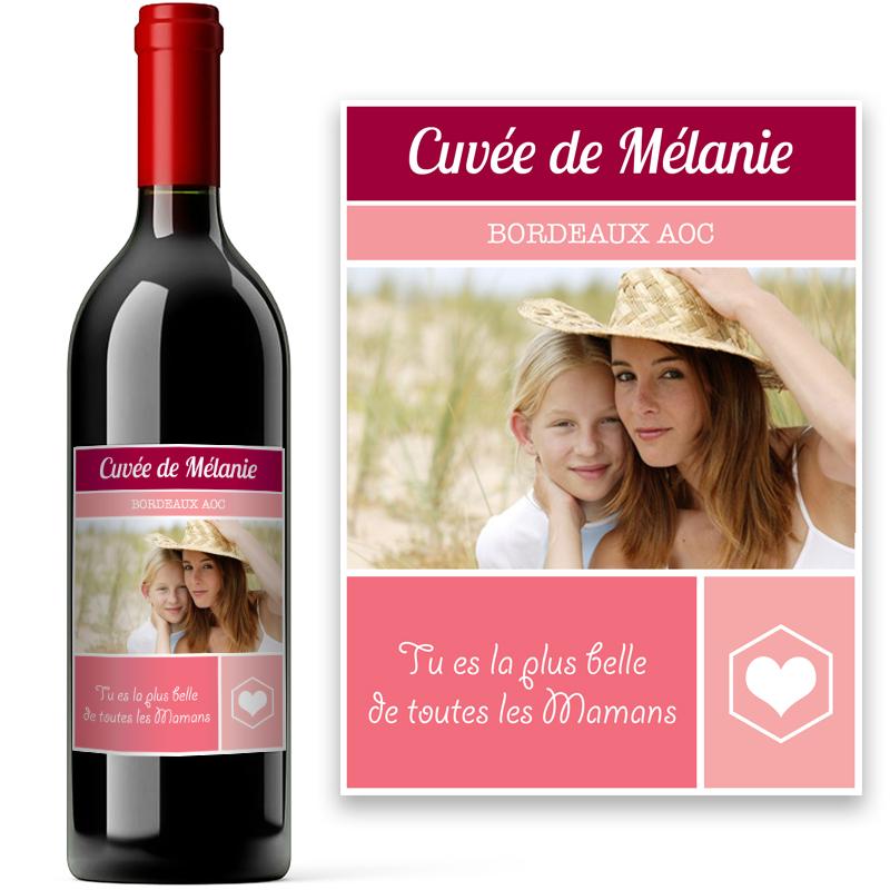 Bouteille de vin avec tiquette personnalis e d 39 une photo for Bouteille de vin personnalisee montreal