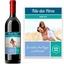 Bouteille de vin étiquette personnalisée photo