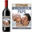 Bouteille de vin avec étiquette personnalisée papa