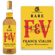 Whisky personnalisé initiales