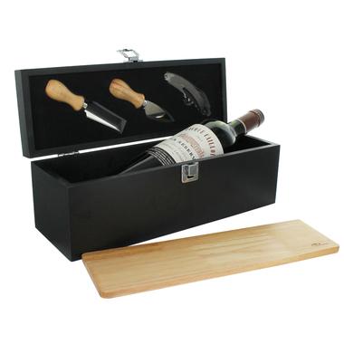 Caisse à vin et plateau à fromages personnalisés
