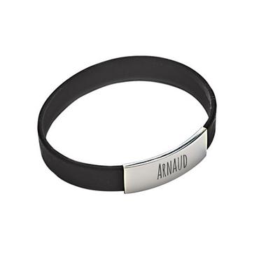 bracelet silicone homme noir