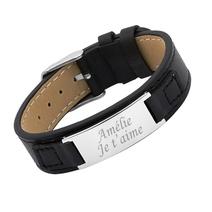 bracelet cuir femme message