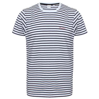 T-shirt style marin brodé