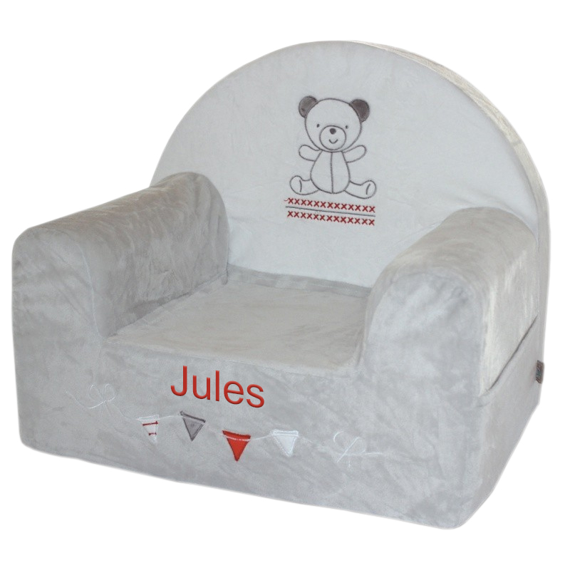 fauteuil club personnalis b b petit ours. Black Bedroom Furniture Sets. Home Design Ideas