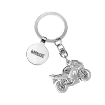 Porte-clés moto médaille gravée