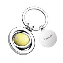 Porte-clés balle de tennis médaille gravée